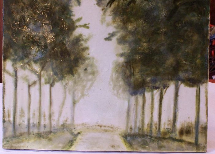 Landscape Greeting Card featuring the painting Dreamy Walk by Karla Phlypo-Price