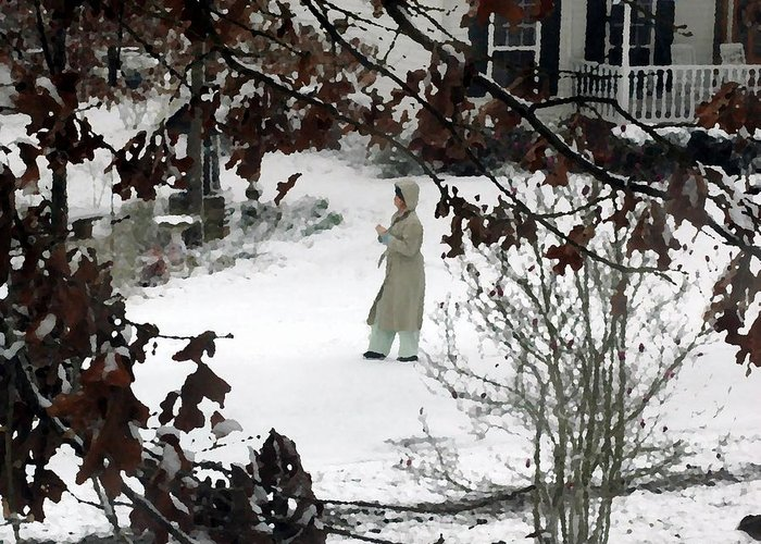 Snow Greeting Card featuring the photograph Dressed For Snow by Lynn Reid