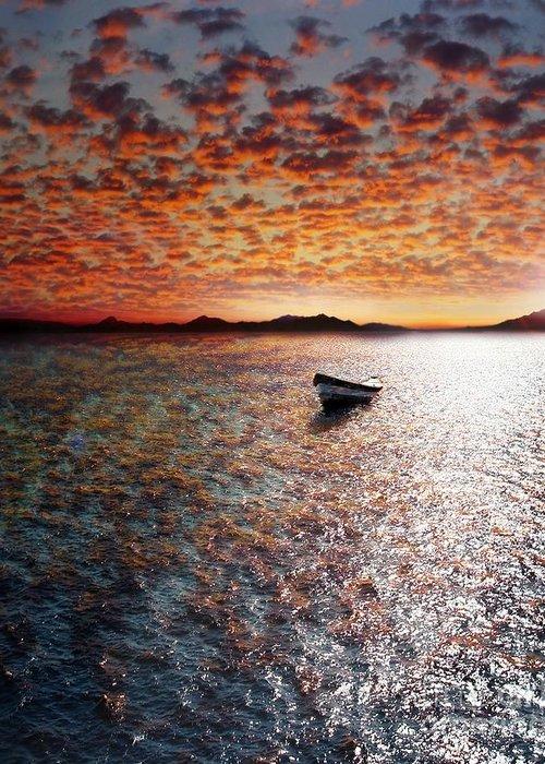 Ocean Greeting Card featuring the photograph Drift Away by Jacky Gerritsen