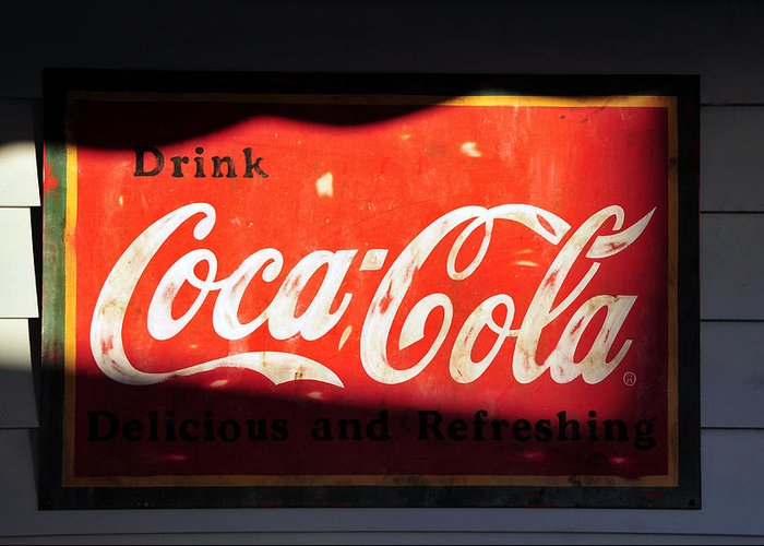Fine Art Photography Greeting Card featuring the photograph Drink Coke by David Lee Thompson