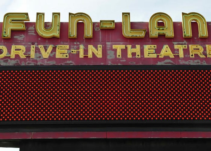Drive In Theatre Greeting Card featuring the photograph Drive Inn Theatre by David Lee Thompson