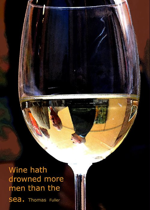 Wine Greeting Card featuring the photograph Drowning by Ian MacDonald