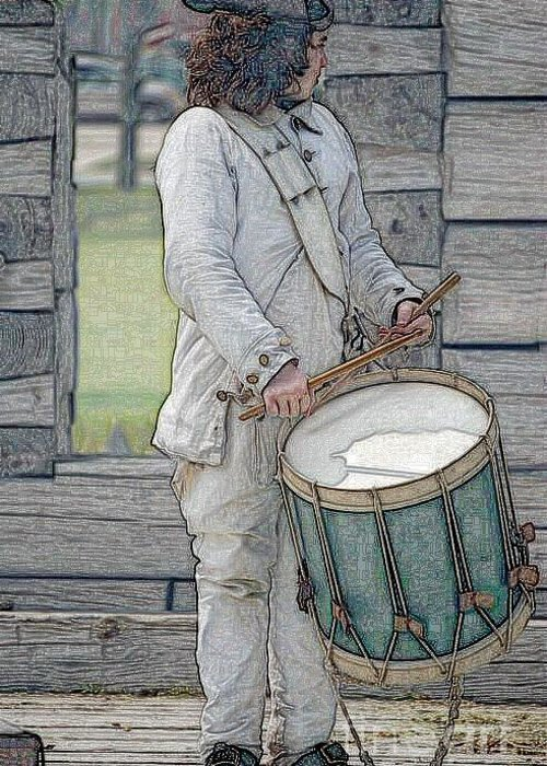 Diane Berry Greeting Card featuring the digital art Drummer Boy by Diane E Berry