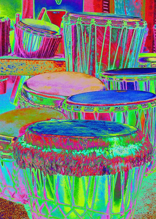 Psychedelic Greeting Card featuring the photograph Drums Of Change by Richard Henne