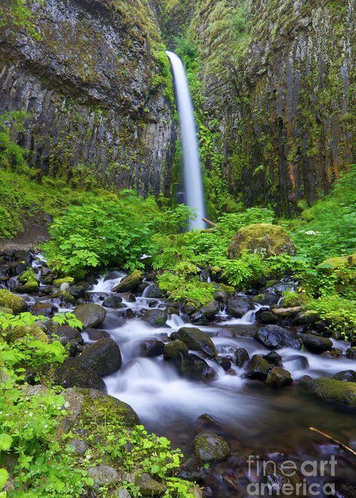 Waterfall Greeting Card featuring the photograph Dry Creek Falls by Bruce Block
