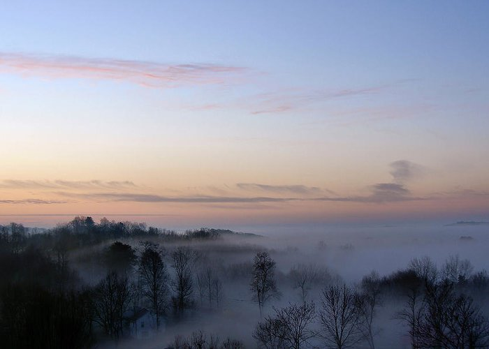 West Virginia Greeting Card featuring the photograph Dry Ridge Morning by Robert Suits Jr