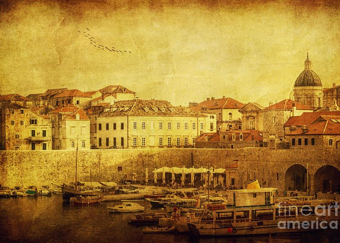 Croatia Greeting Card featuring the photograph Dubrovnik by Andrew Paranavitana
