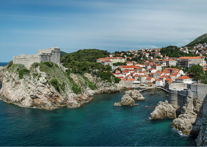 Dubrovnik Greeting Card featuring the photograph Dubrovnik Panorama by Alida Thorpe