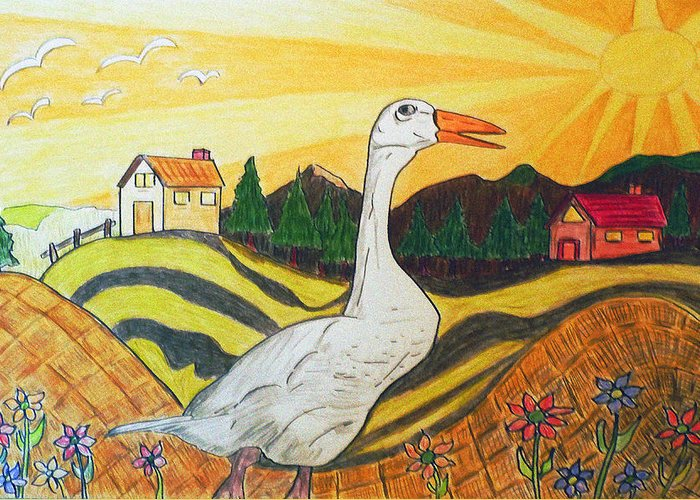 Duck Greeting Card featuring the painting Duck Season Could Be by Monica Engeler