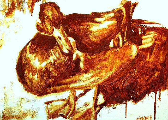 Duck Paintings Greeting Card featuring the painting Duck Study by Brian Simons