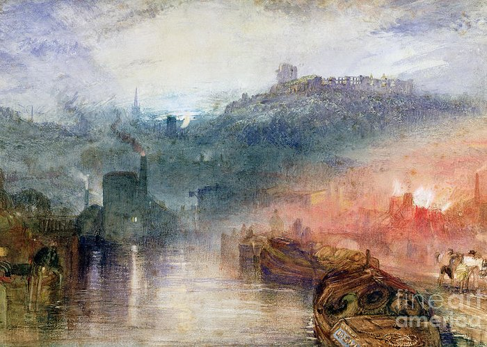 Dudley Greeting Card featuring the painting Dudley by Joseph Mallord William Turner