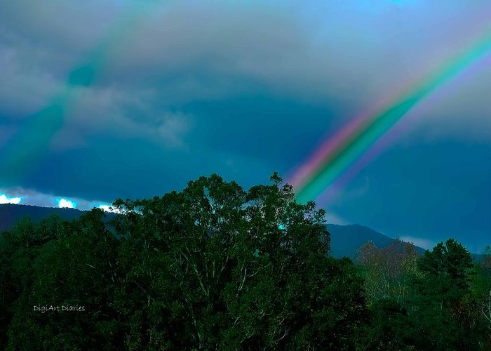 Rainbows Greeting Card featuring the photograph Dueling Rainbows by DigiArt Diaries by Vicky B Fuller
