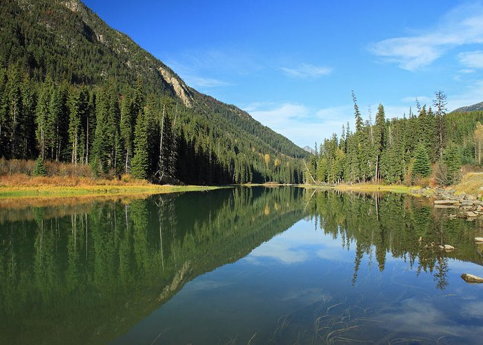 Duffey Greeting Card featuring the photograph Duffey Lake Reflection In Autumn by Pierre Leclerc Photography