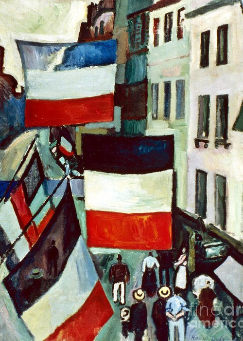 1906 Greeting Card featuring the photograph Dufy: Flags, 1906 by Granger