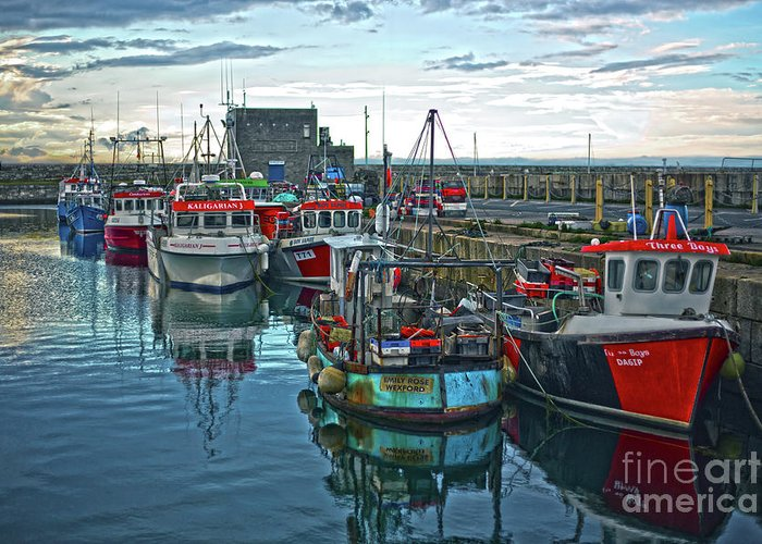 Dun Laoghaire Greeting Card featuring the photograph Dun Laoghaire 15 by Alex Art and Photo