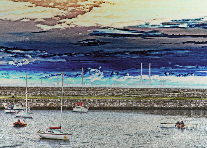 Dun Laoghaire Greeting Card featuring the photograph Dun Laoghaire 20 by Alex Art and Photo
