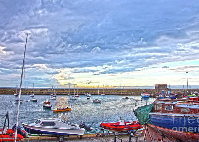 Dun Laoghaire Greeting Card featuring the photograph Dun Laoghaire 24 by Alex Art and Photo