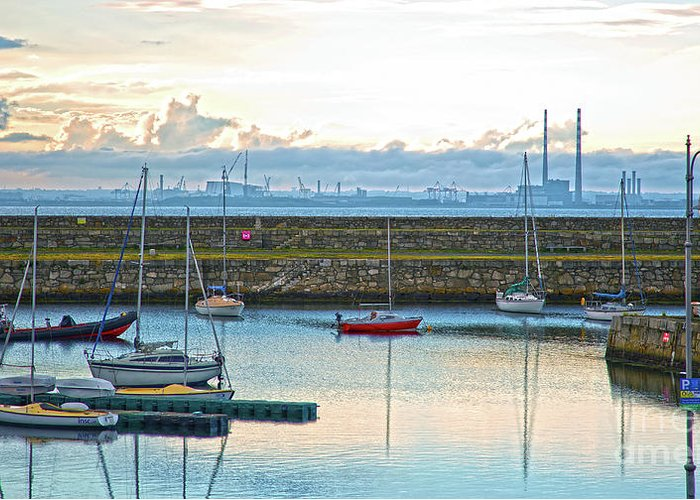 Dun Laoghaire Greeting Card featuring the photograph Dun Laoghaire 3 by Alex Art and Photo