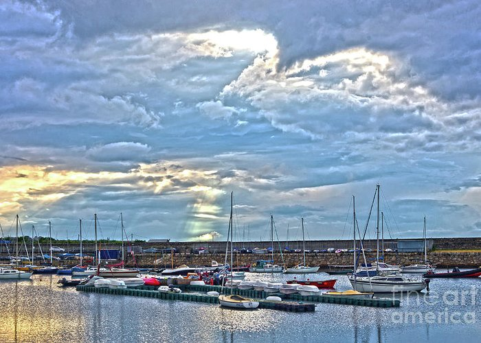 Dun Laoghaire Greeting Card featuring the photograph Dun Laoghaire 32 by Alex Art and Photo