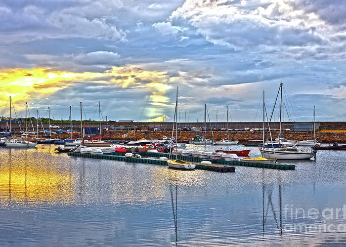 Dun Laoghaire Greeting Card featuring the photograph Dun Laoghaire 33 by Alex Art and Photo