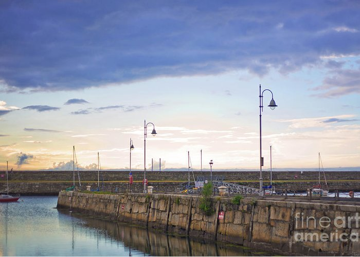 Dun Laoghaire Greeting Card featuring the photograph Dun Laoghaire 34 by Alex Art and Photo