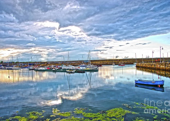 Dun Laoghaire Greeting Card featuring the photograph Dun Laoghaire 37 by Alex Art and Photo