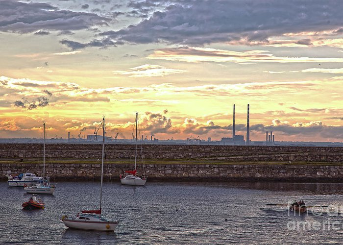 Dun Laoghaire Greeting Card featuring the photograph Dun Laoghaire 40 by Alex Art and Photo