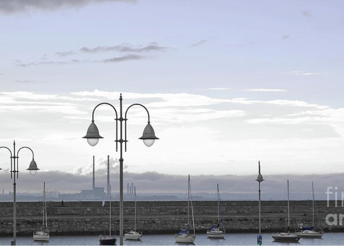Dun Laoghaire Greeting Card featuring the photograph Dun Laoghaire 42 by Alex Art and Photo