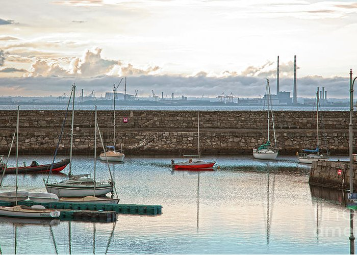 Dun Laoghaire Greeting Card featuring the photograph Dun Laoghaire 5 by Alex Art and Photo