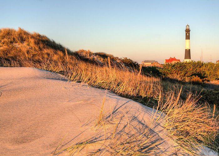 Fire Island Greeting Card featuring the photograph Dunes Of Fire Island by JC Findley