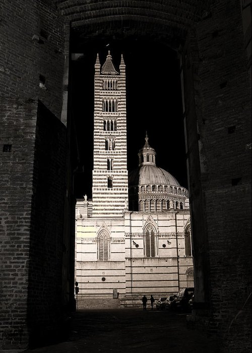 Italy Greeting Card featuring the photograph Duomo Di Siena by Carl Jackson