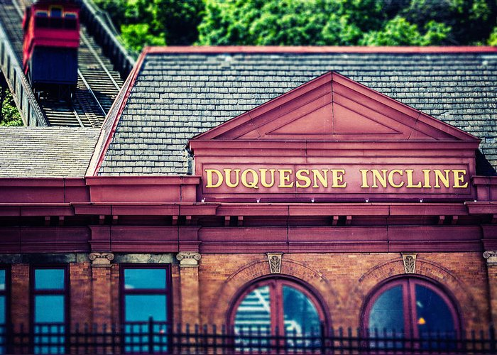 Pittsburgh Greeting Card featuring the photograph Duquesne Incline Of Pittsburgh by Lisa Russo