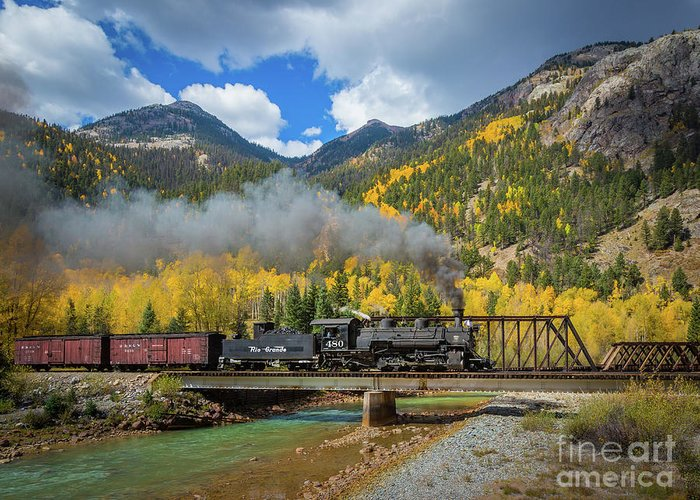 America Greeting Card featuring the photograph Durango-silverton Twin Bridges by Inge Johnsson