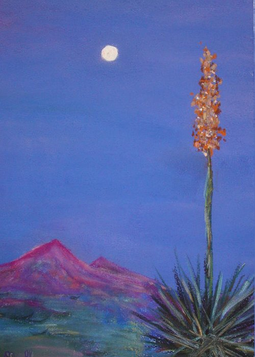 Evening Greeting Card featuring the painting Dusk by Melinda Etzold