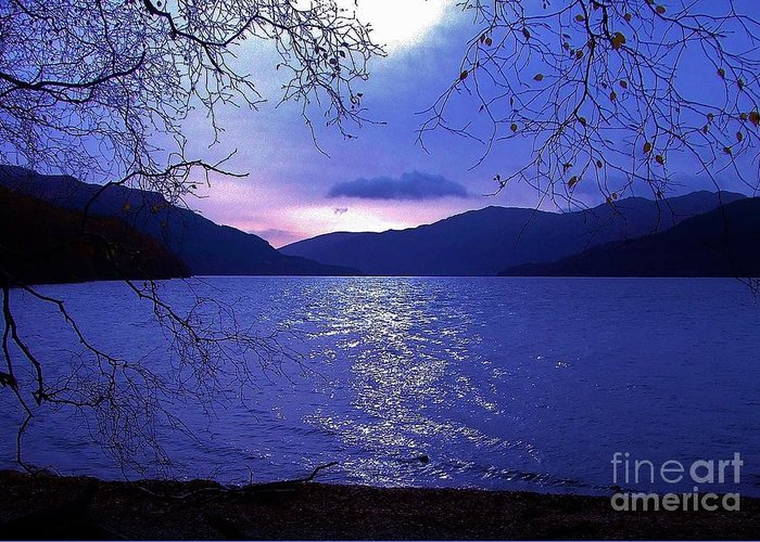 Loch Lomond Greeting Card featuring the photograph Dusk On Loch Lomond by Lamont Finnigan