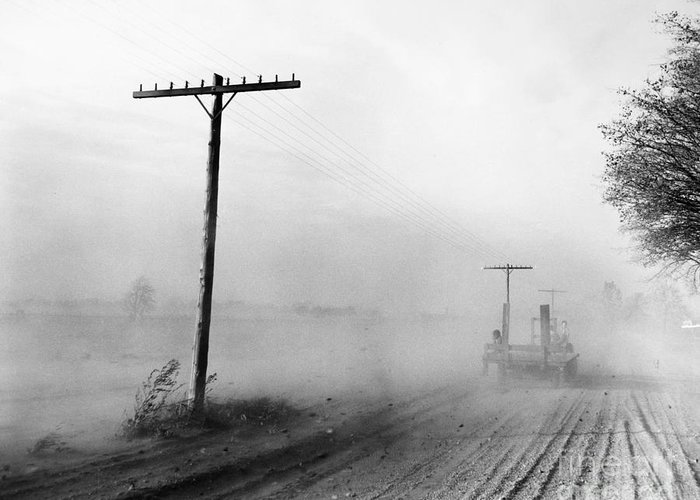 1936 Greeting Card featuring the photograph Dust Bowl, C1936 by Granger