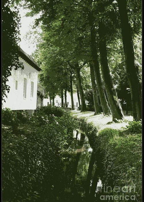 Dutch Greeting Card featuring the photograph Dutch Canal - Digital by Carol Groenen