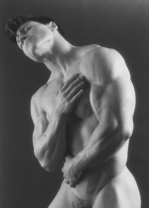 Male Nudes Greeting Card featuring the photograph Dwain Leland 5 by Thomas Mitchell