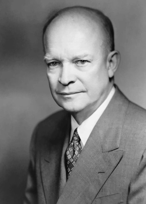 Eisenhower Greeting Card featuring the painting Dwight Eisenhower by War Is Hell Store