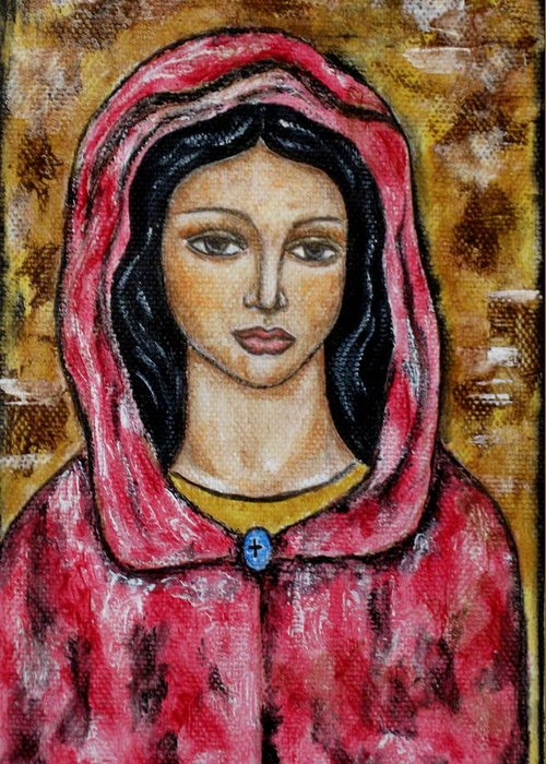 Paintings Greeting Card featuring the painting Dyanne by Rain Ririn
