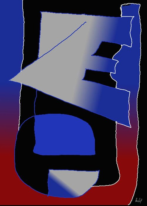 Eu Greeting Card featuring the digital art E-likes-eu by Helmut Rottler