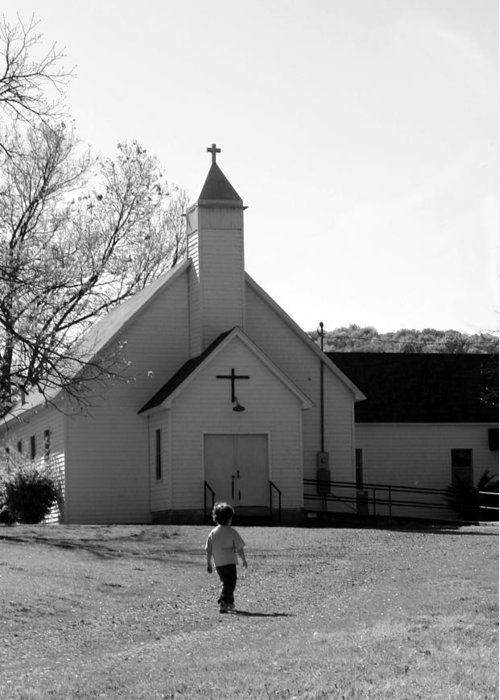 Greeting Card featuring the photograph E-to-the-church by Curtis J Neeley Jr