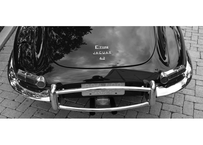 Jaguar Greeting Card featuring the photograph E-type by Recluse Road