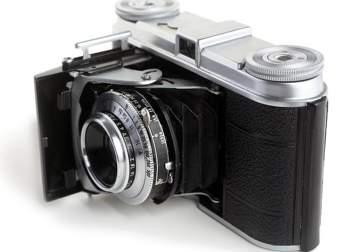 Photography Greeting Card featuring the photograph Early 35mm Film Camera by Paul Cowan