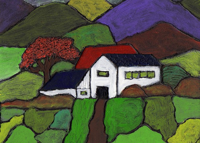 Farm Greeting Card featuring the painting Early Autumn by Wayne Potrafka