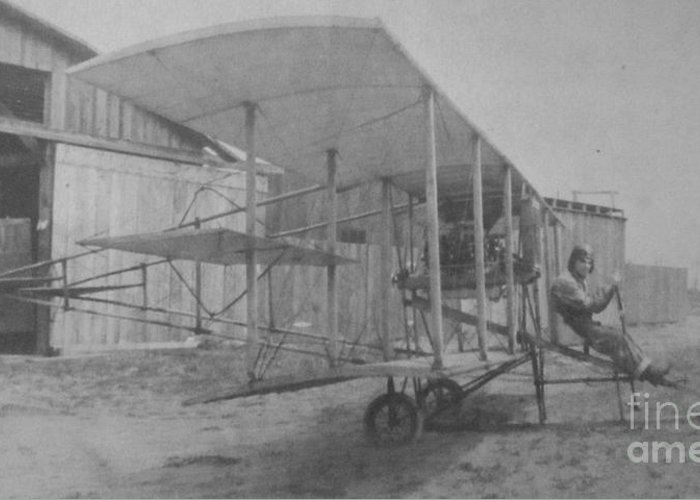 Photograph Of Antique Plane Greeting Card featuring the photograph Early Aviation by Gwyn Newcombe