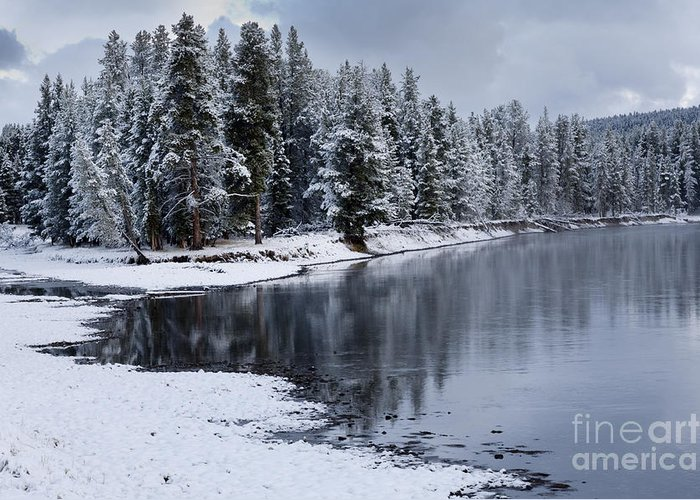 Yellowstone Greeting Card featuring the photograph Early Fall Storm In Yellowstone by Sandra Bronstein