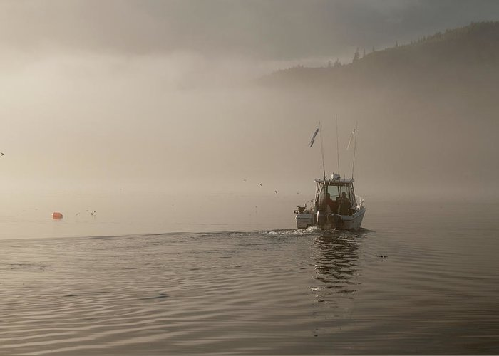 Places Greeting Card featuring the photograph Early Morning Fishing Boat by Chad Davis