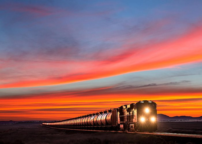 Train Greeting Card featuring the photograph Early Morning Haul by Todd Klassy