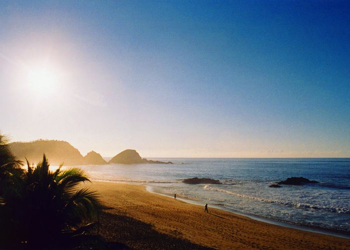 Landscape Greeting Card featuring the photograph Early Morning In Zipolite 2 by Lyle Crump